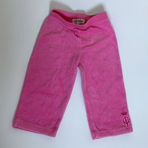Juicy Couture Baby (18M) Pink Velour Terry Pants